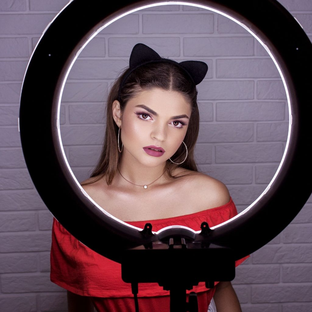 ring light for makeup image