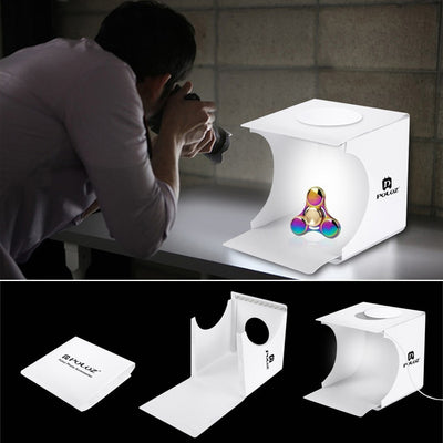 Dual LED Panel Light Box Photography Kit