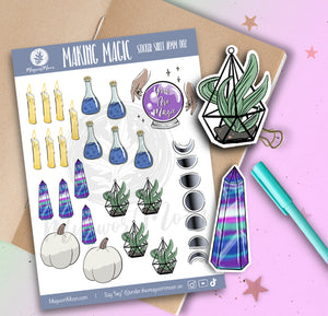Making Magic Sticker Sheet #MM002