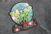 Load image into Gallery viewer, Glitter Mushroom Moth Fae Sticker