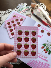Load image into Gallery viewer, Vintage Strawberry Planner Sticker Sheet P100