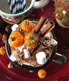 Fall Pumpkin Spice themed Faux Whipped Cream Mug Topper #2