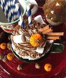 Fall Pumpkin Spice themed Faux Whipped Cream Mug Topper #3