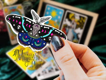 Load image into Gallery viewer, Skull Moth Sticker