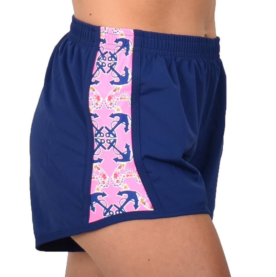 Run Shorts - Pink Anchor