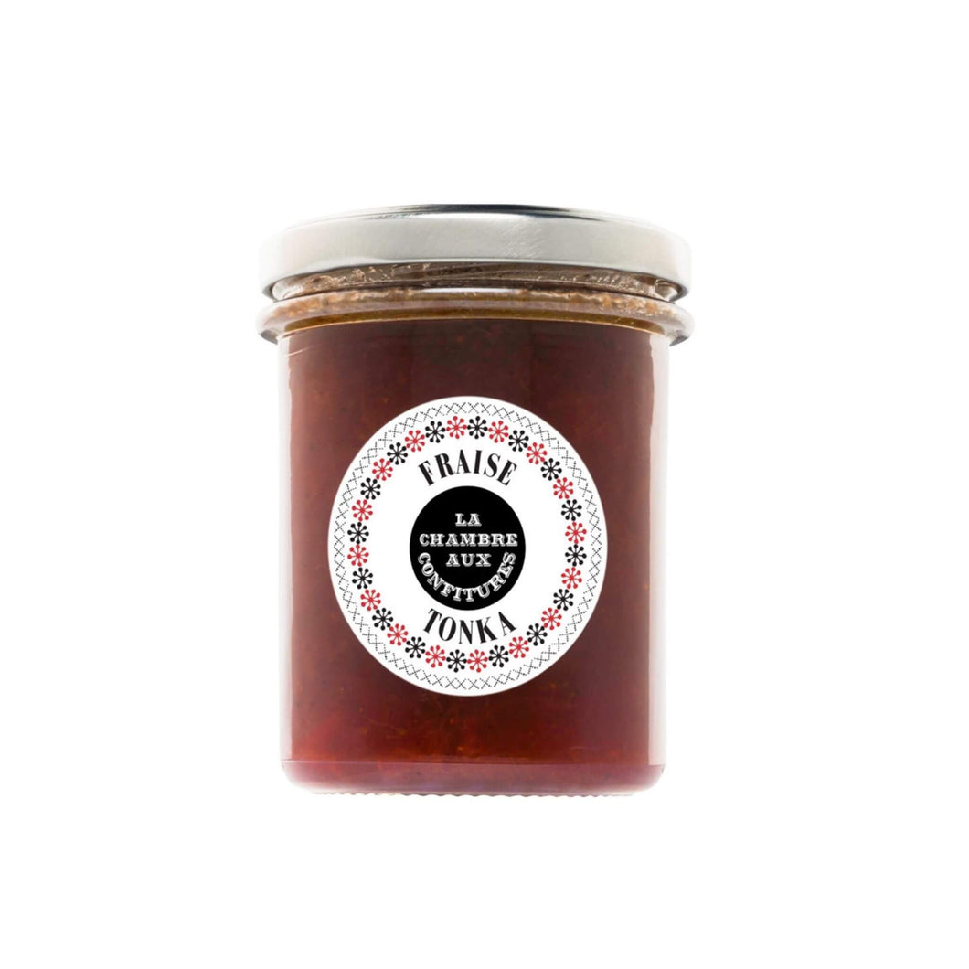 Artisan jam: strawberry/tonka bean.