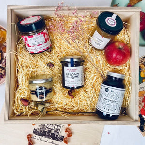 The Amour hamper: vegetarian artisan French food.
