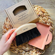 Load image into Gallery viewer, Traditional dustpan and brush- wood and natural fibres