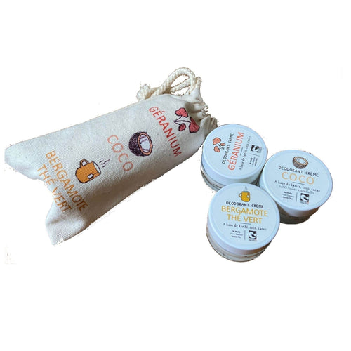 natural deodorant travelling kit