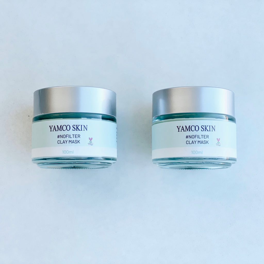 Double #NoFilter Detoxifying Clay Mask - Yamco Skin