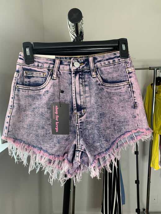 Heartless Jean Shorts (Pink)