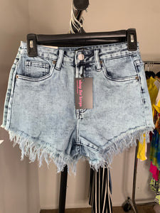 Heartless Jean Shorts (Blue)