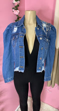 Load image into Gallery viewer, Denim In Distress Jacket