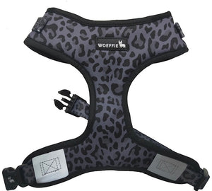 Adjustable Harness - Black Leopard