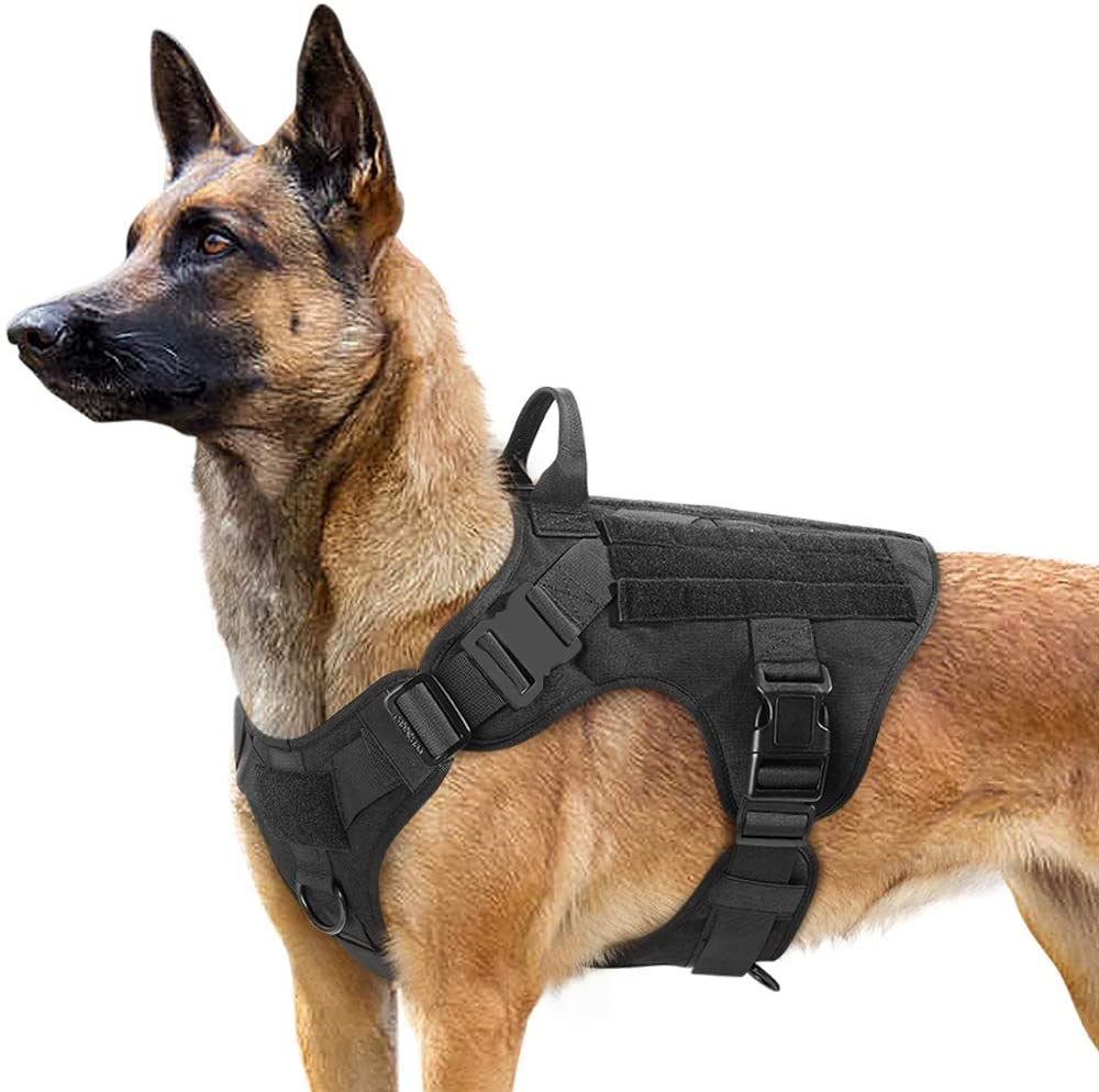 Tactical Dog Harness with No Pull Front Clip