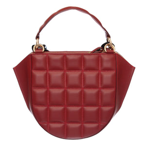 EVA BURGUNDY QUILTED