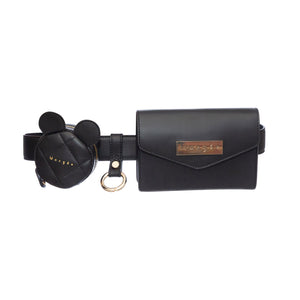 ADELINE SOFT BLACK KEYCHAIN BELT