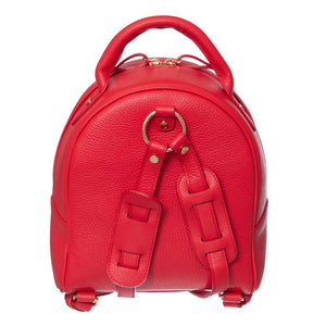 EMILY RED GRAIN LEATHER BACKPACK