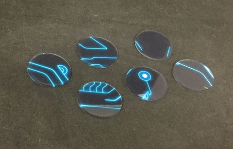 Basing Inserts: Electronic 40mm color
