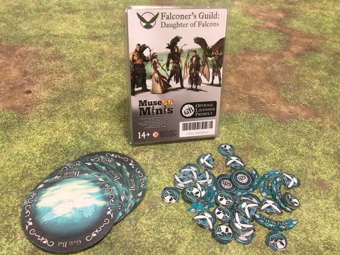 Guild Ball: Falconer's Guild - Daughter of Falcons Tokens  Season 4