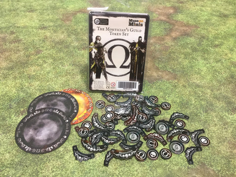 Guild Ball:  Mortician's Season 4 full token set.