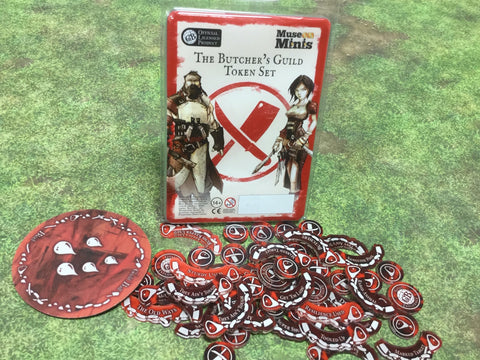 Guild Ball:  Butcher's Season 4 full token set.