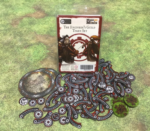Guild Ball:  Engineer's Season 4 full token set.