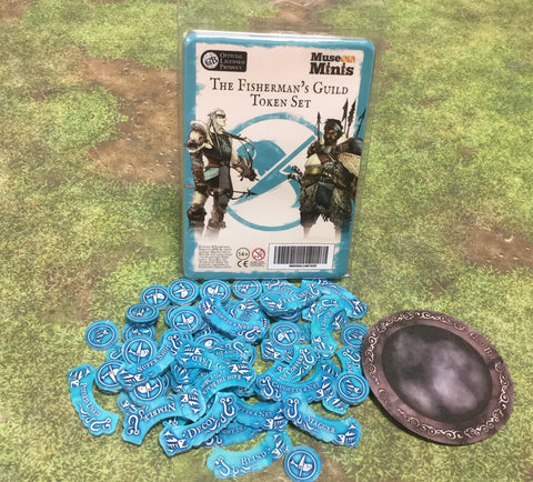 Guild Ball:  Fishermen Season 4 full token set.