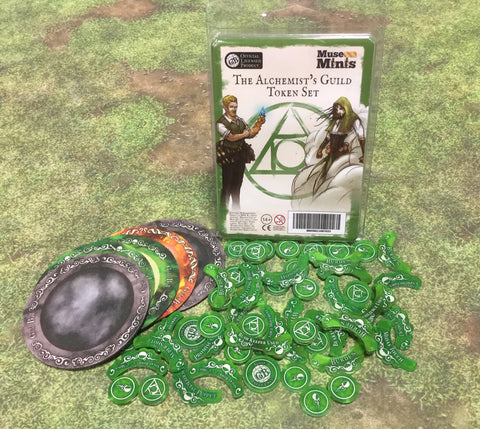 Guild Ball:  Alchemist's Season 4 full token set.
