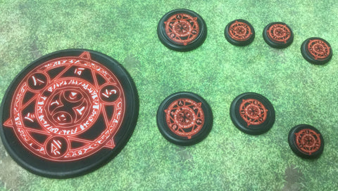 Basing Inserts: DemonHex 50mm color