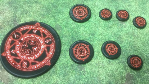 Basing Inserts: DemonHex 40mm color inserts