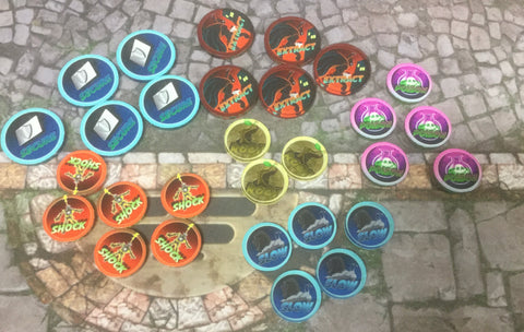 Status Effect Tokens for use with Marvel: Crisis Protocol, Wave 2