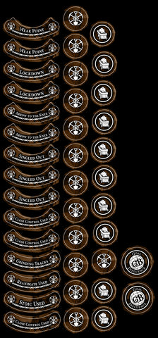 Guild Ball: Miners's Season 4 full token set. *PRE RELSEASE*