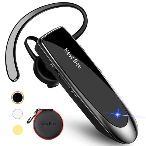 Bluetooth Earpiece Driving Headset - Earpiece For Business/Driving with Bluetooth v5.0 - EasyTechGO - Bluetooth Earphones