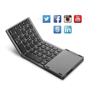 Android and Windows Traval Bluetooth Foldable Wireless Keypad Compatible with iOS SCKL Portable Mini Folding Keyboard