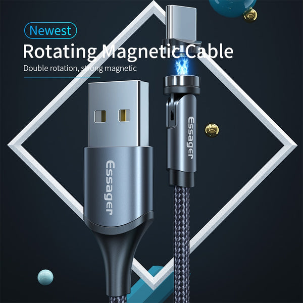 Image of a Charging cable 360° Magnetic Cable Universal double flexible - EasyTechGO