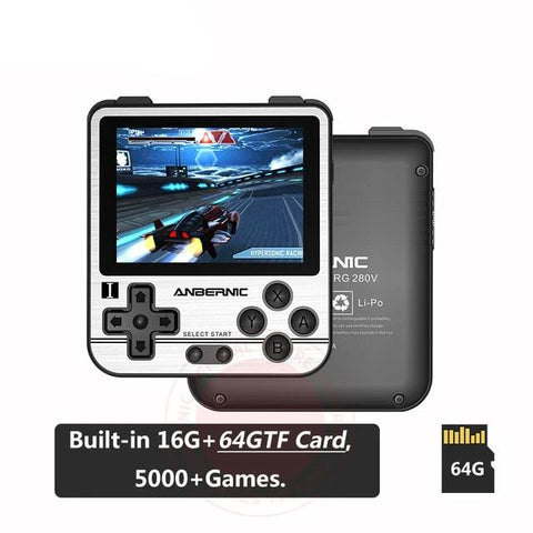 ANBERNIC RG280V Retro Portable Mini Handheld Game Console plus 64GB-5000 Games