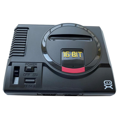 The iconic SEGA Genesis console that defined a generation of gaming returns in this slick, miniaturised Console. The RetroGen comes with 168 16-Bit classic games built-in (including Sonic, Golden Axe).