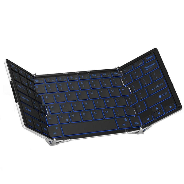Mini Keyboard Backlight Bluetooth Folding - Ultra Slim - EasyTechGO