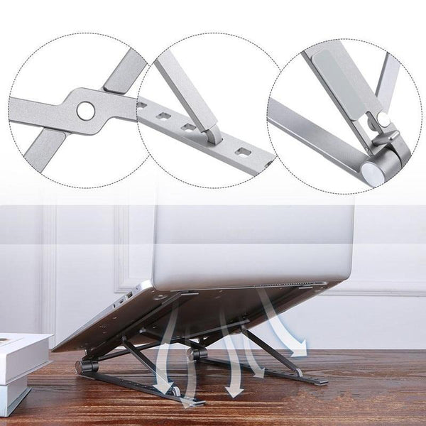 Adjustable Foldable Laptop Stand - X Style™ - EasyTechGO -