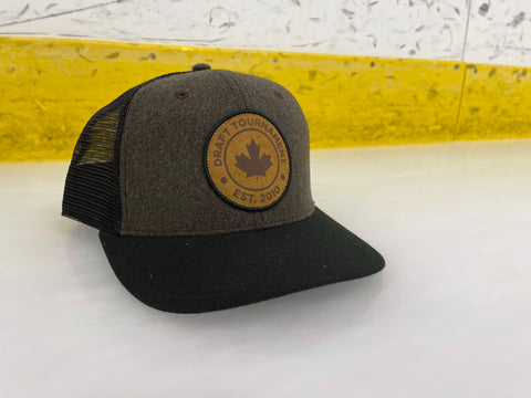 Draft Leather Patch Snap Back