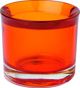 Glas-Teelicht-Halter CUP orange
