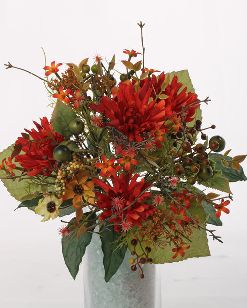 Herbst-Bouquet, rot-orange