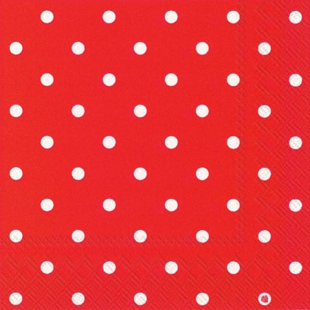Lunch-Servietten 'Little Dots' red