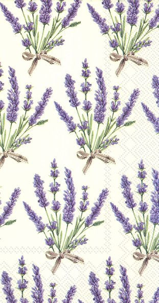 Buffet-Servietten 'Bouquet of Lavender'