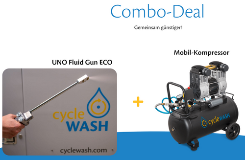 cycleWASH® Combi Deal UNO Fluid Gun inkl. MWSt. - CW Cleaning Solutions GmbH