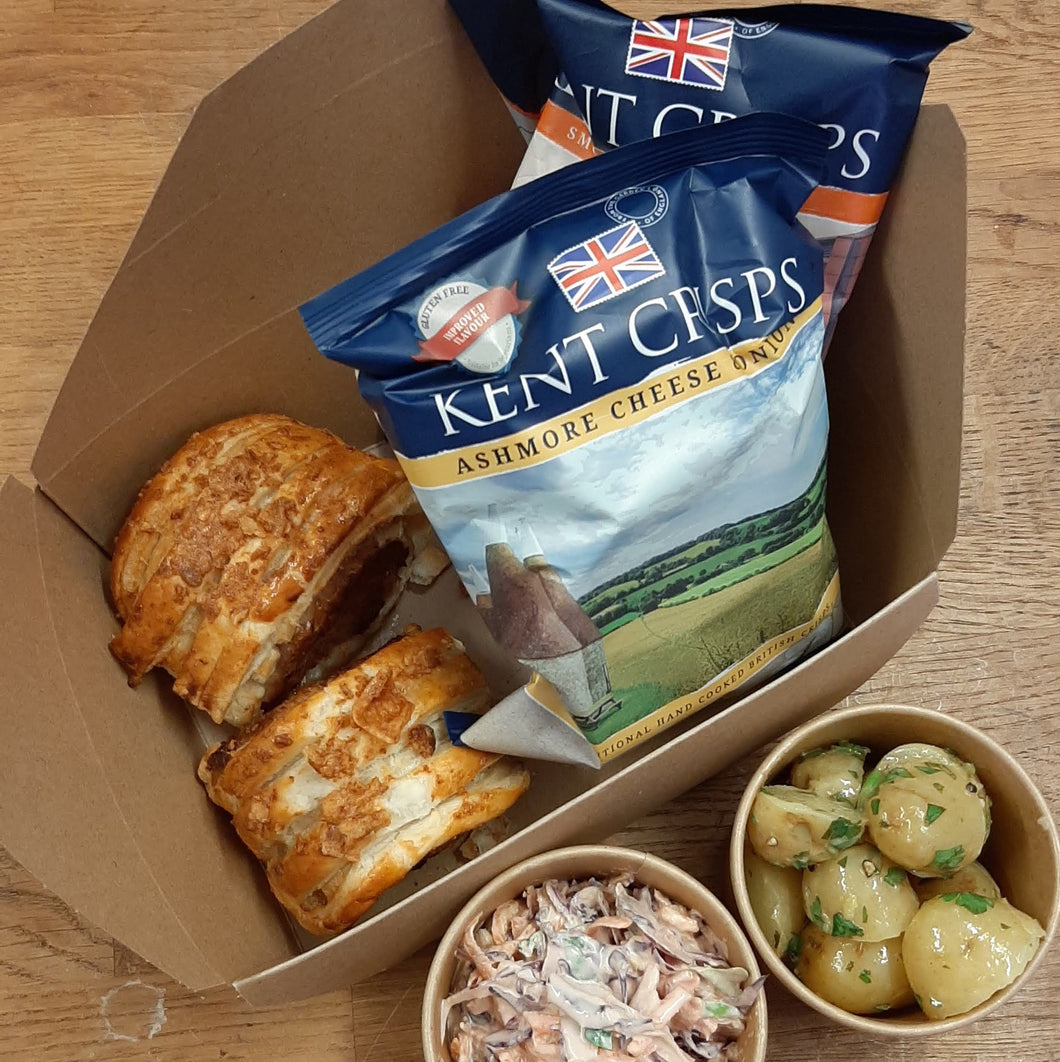 Picnics for 2 or 4 - Pecan Brownies, Granny's Sausage Rolls, Wasted Salads