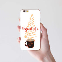 Load image into Gallery viewer, Fragrant Coffee Print Slim Case Cover for iPhone X (10) 8 Plus Samsung Galaxy S8