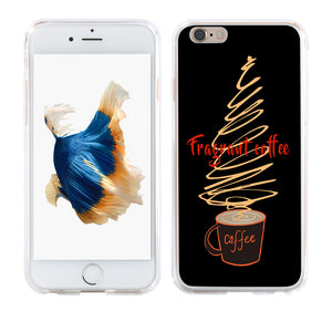Fragrant Coffee Print Slim Case Cover for iPhone X (10) 8 Plus Samsung Galaxy S8