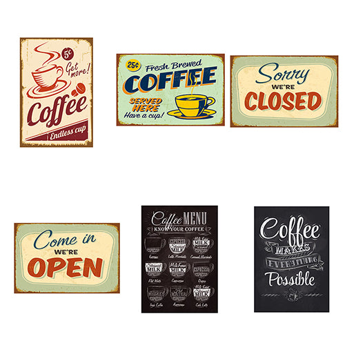 Vintage Metal Tin Coffee Sign Plaque Poster Bar Wall Pub Home Club Kitchen Decor